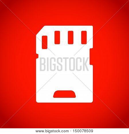 Micro sd card icon stock vector illustration flat designv