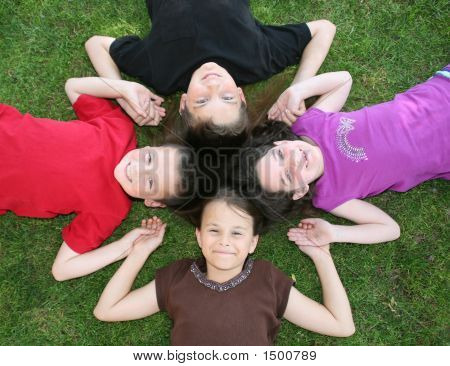 Four Happy Children