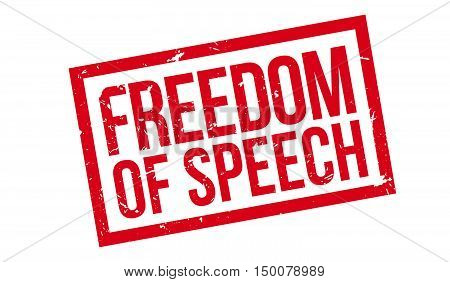 Freedom Of Speech Rubber Stamp