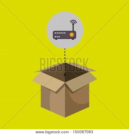 box router signal connect communication vector illustration eps 10