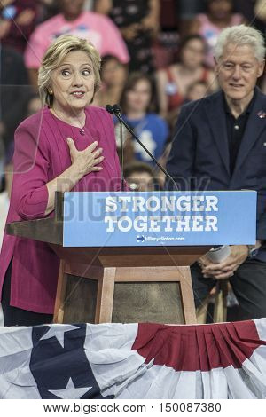29 July 2016 - PhiladelphiaPA - Secretary Hillary Clinton Democratic Presidential Nominee and President Bill Clinton at campaign rally in Philadelphia.