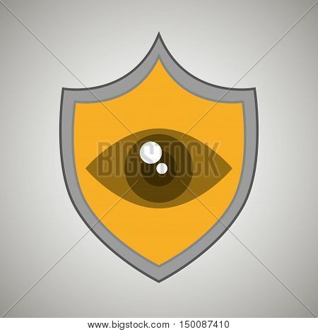 symbol eye alert data vector illustration eps 10