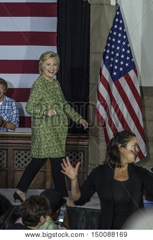 19 September 2016 - PhiladelphiaUSA - Secretary of State Hillary Clinton campaign rally at Temple Uniersity Philadelphia.