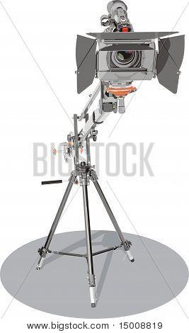 HD-Camcorder auf Kran