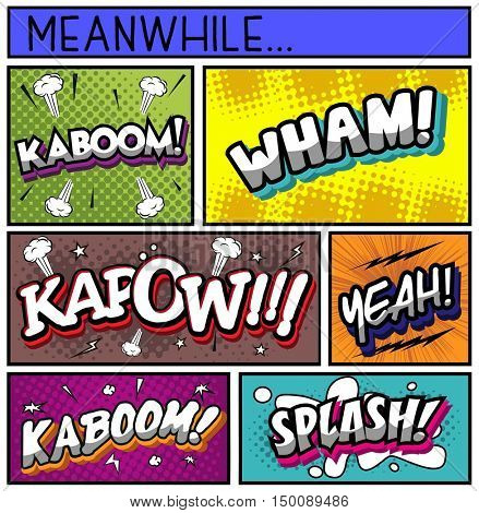 Collection of Comic Book  on Various  Halftone,Background
