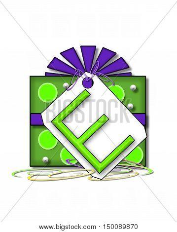 Alphabet Gift Wrapped E