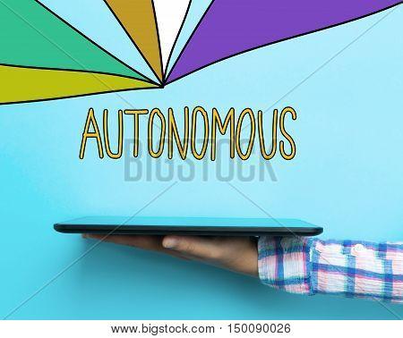 Autonomous Concept With A Tablet