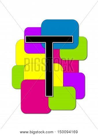 Alphabet Geometric T