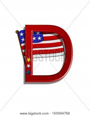 Alphabet Stars And Stripes D