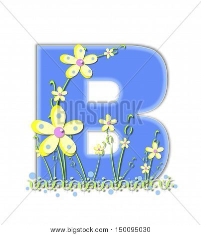 Alphabet Yellow Daisies B