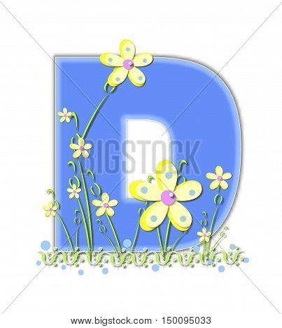 Alphabet Yellow Daisies D