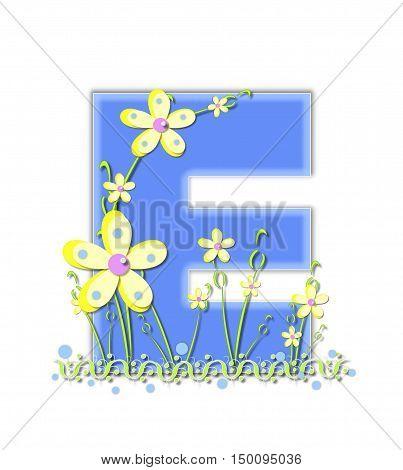Alphabet Yellow Daisies E
