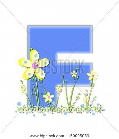 Alphabet Yellow Daisies F
