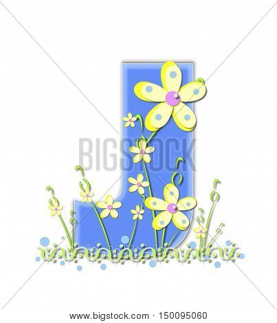 Alphabet Yellow Daisies J