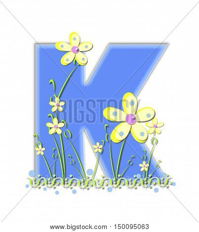 Alphabet Yellow Daisies K