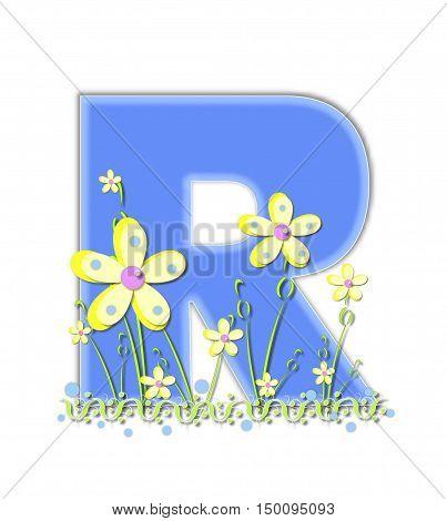 Alphabet Yellow Daisies R
