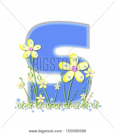 Alphabet Yellow Daisies S