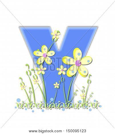 Alphabet Yellow Daisies Y