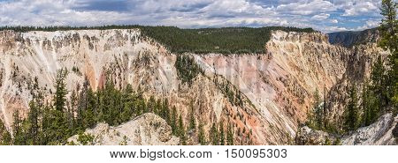 Grand Canyon Of The Yellowstone Panoramic