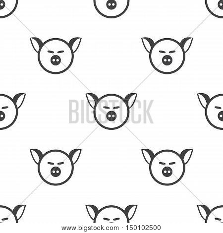 pig muzzle icon on white background for web