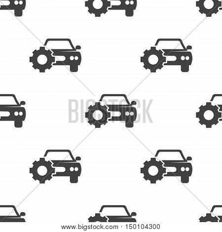 car with cogwheel icon on white background for web