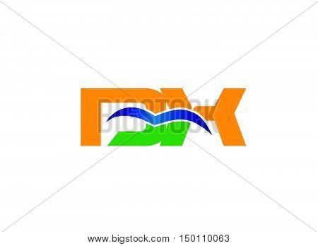 DX company linked letter logo design vector