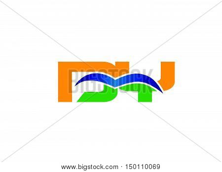 DY company linked letter logo design vector template