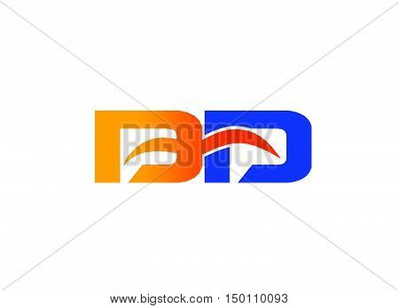 Letter D and D logo design vector template