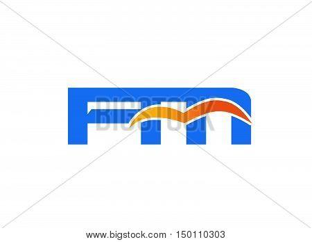 FM initial company logo design vector template