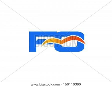 FO initial company logo design vector template