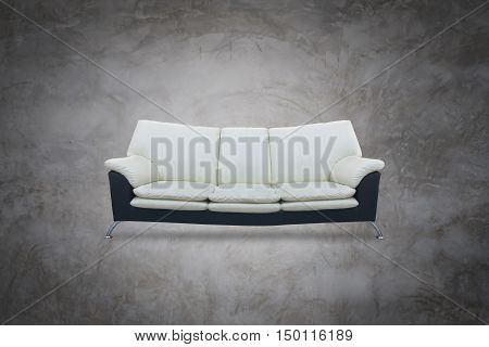 black Modern sofa and white color on isolated white background .