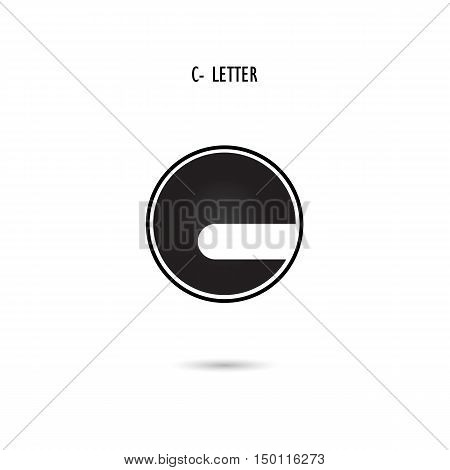 Creative C-letter icon abstract logo design.C-alphabet symbol.Corporate business and industrial logotype symbol.Vector illustration