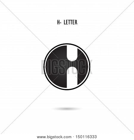 Creative H-letter icon abstract logo design.H-alphabet symbol.Corporate business and industrial logotype symbol.Vector illustration