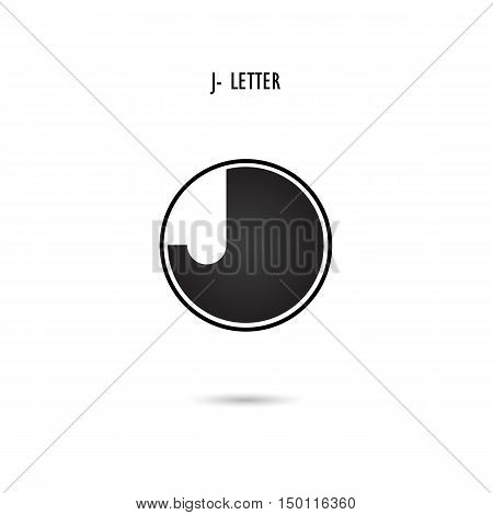 Creative J-letter icon abstract logo design.J-alphabet symbol.Corporate business and industrial logotype symbol.Vector illustration