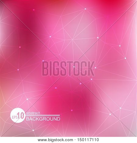 Abstract background with pink bright and light spots.