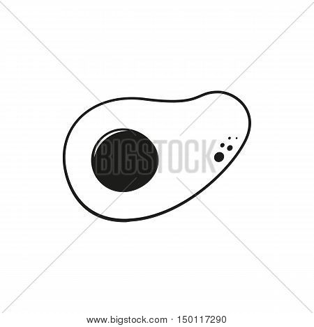 omelette simple black icon isolated on white background. Elements for company print products page and web decor. Vector illustration.
