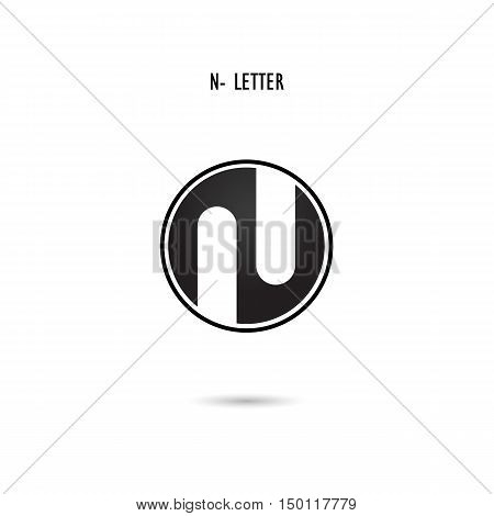 Creative N-letter icon abstract logo design.N-alphabet symbol.Corporate business and industrial logotype symbol.Vector illustration