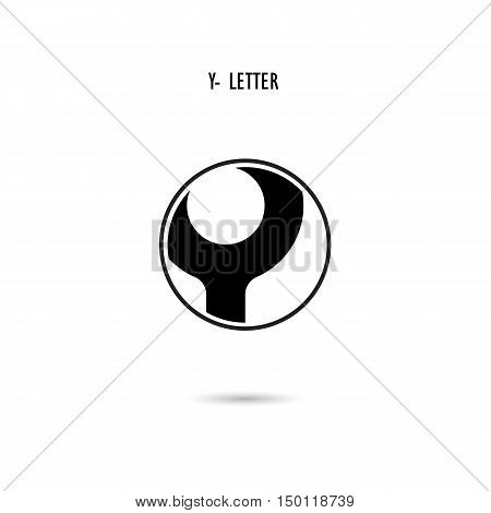 Creative Y-letter icon abstract logo design.Y-alphabet symbol.Corporate business and industrial logotype symbol.Vector illustration