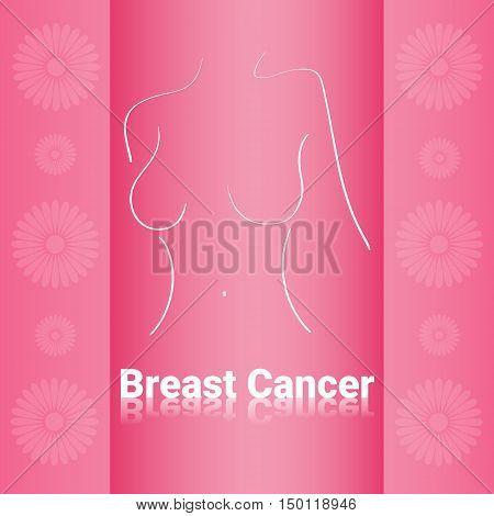 Breast Cancer Awareness Female Body Vector Illustration