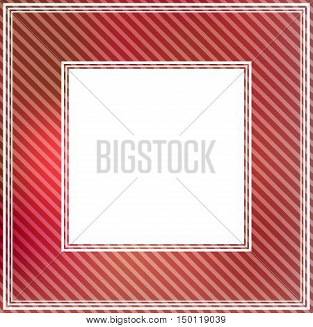 Abstract striped border with bright red spots.