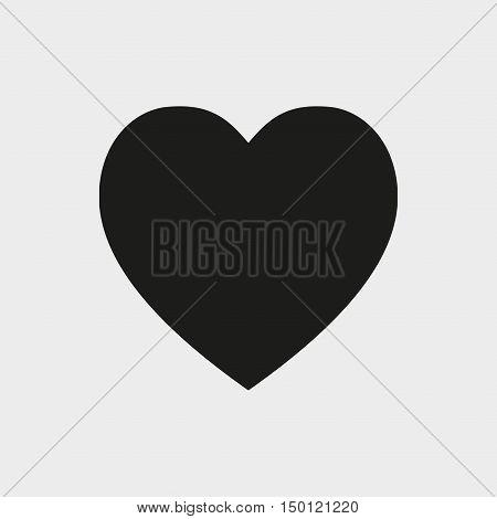 heart icon stock vector illustration flat design