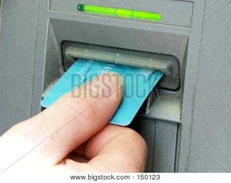 Atm - Hand Putting Card In