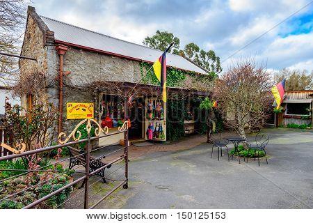 Adelaide Australia - August 13 2016: German Village Shop in Hahndorf Adelaide Hills area South Australia.