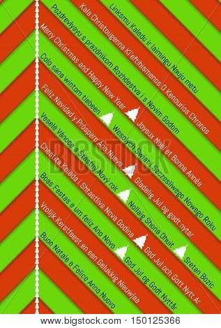 Christmas Background With Green And Red Stripes