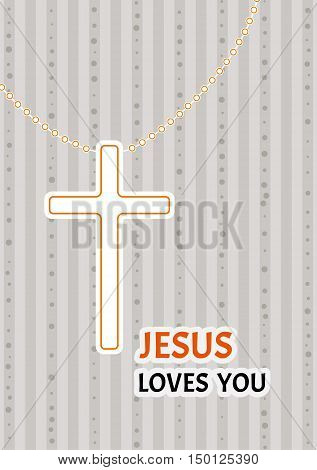Christian Cross On A Chain