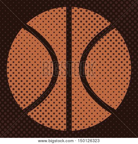 Sports background ball for the game of basketball the effect halftone and a place for you text vector illustration.