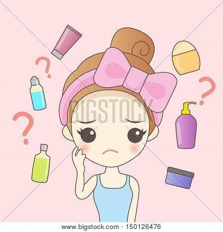 cartoon woman do facial maintenance great for your design