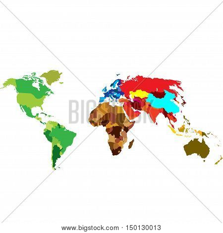 The political map of the world on a white background. Vector illustration