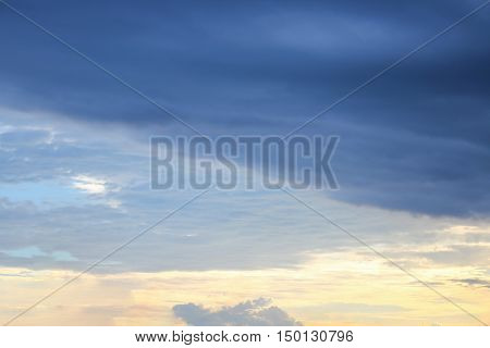 blue sky and raincloud dark motion shape beautiful colourful evening in nature for background