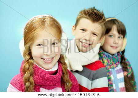 Children in winterwear
